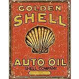 Golden Shell Auto Oil metal sign (de)