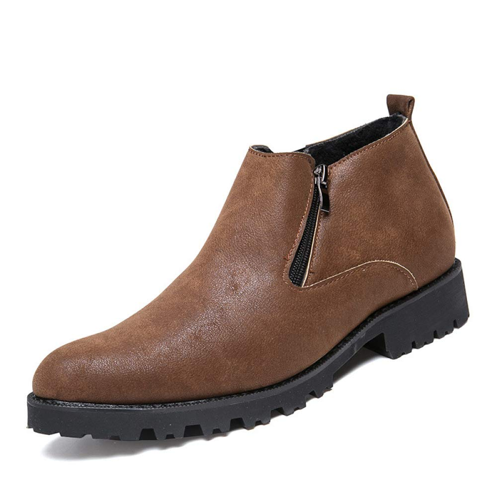 Yiyu Mens Leather Shoes Business Autumn Warmth Comfortable Leather Shoes