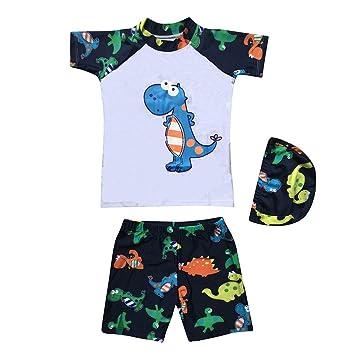 58026b7be Newest Baby Swimsuit Short Sleeves Dinosaur Printed Toddler Kids Boy  Swimwear Bathing Suits Beachwear (3XL
