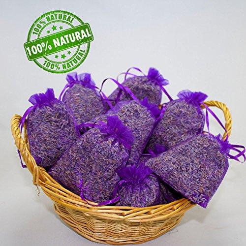 10 Lavendelsäckchen mit 200 g !!!! frischen französischem Lavendel Lavendelblüten gefüllt Tolles Dufterlebnis Duftsäckchen