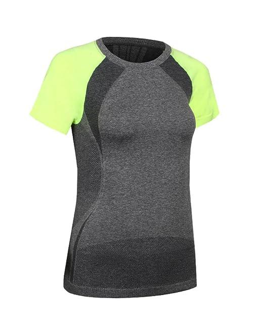 PengGeng Mujer Camisetas Deportivas Yoga Fitness Camisa Slim Fit Top: Amazon.es: Ropa y accesorios