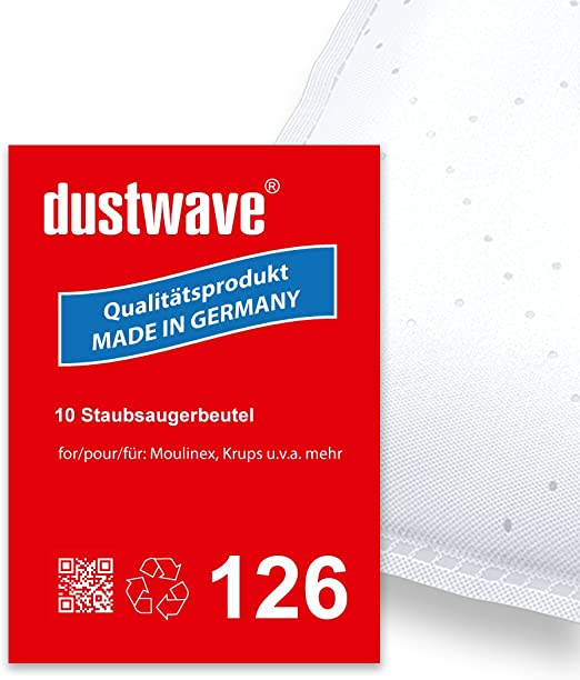 Pack de ahorro – 10 bolsas para aspiradoras Moulinex – 1300, 1350 Compact de Luxe – Aspiradora – dustwave® Premium Calidad – Fabricado en Alemania: Amazon.es: Hogar