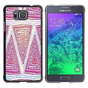 Be Good Phone Accessory // Dura Cáscara cubierta Protectora Caso Carcasa Funda de Protección para Samsung GALAXY ALPHA G850 // Pattern Pink Art Hand Drawing