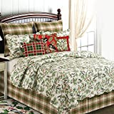 Chickadee Queen 4 Piece Quilt Set by April Cornell