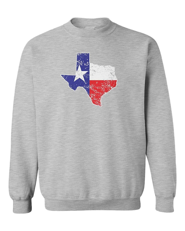 Texas Map Texan State Pride Cool Youth Fleece Crewneck Sweater
