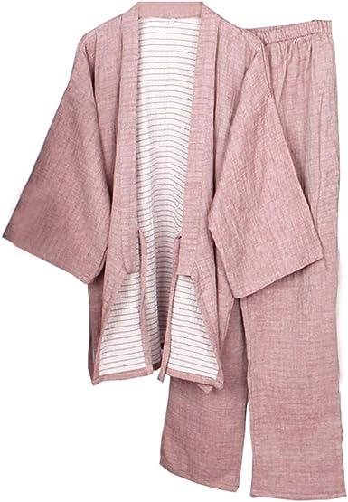 Bata Japonesa para Hombre Kimono Pijama Camisón Mediano ...