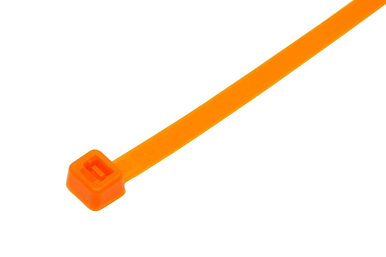 Gocableties Bridas fluorescentes de ne/ón 200 x 4,8 mm, 6 pulgadas, nailon resistente, 100 unidades amarillo