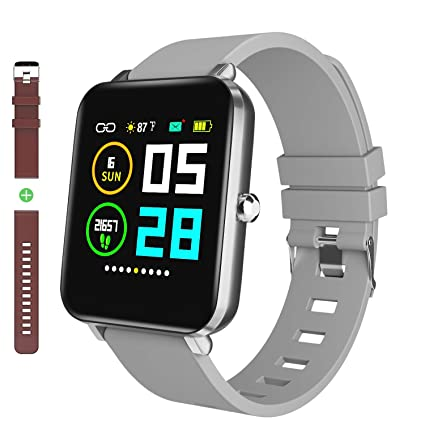 Zagzog Smart Watch: All-Day HeartRate Activity Tracking,Waterproof,Full Touch Screen,Step Counter,Calorie Counter,Pedometer,Sleep ...