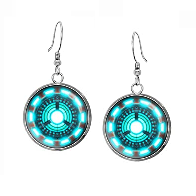 Amazon arc reactor earrings iron man ironman jewellery the amazon arc reactor earrings iron man ironman jewellery the avengers jewelry shield pendant superhero necklace gifts gift geek geeky present aloadofball Image collections