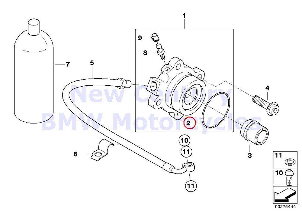 BMW Genuine Motorcycle Clutch Control O-Ring K1200S K1200R K1200R Sport K1200GT