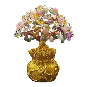 7 Feng Shui Geld Baum Fengshui Multi Farbe Crystal Gem Stone Geld