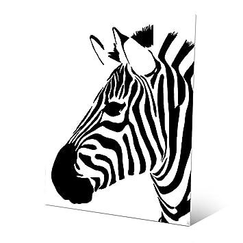 Minimalist Zebra   Black: Pop Art Graphic Illustration Of Head Of Zebra  Wall Art