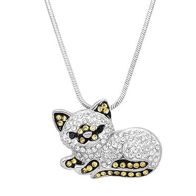 Lola Bella Gifts - Collar con Colgante de Gato del Himalaya Persa con Caja de Regalo: Amazon.es: Joyería