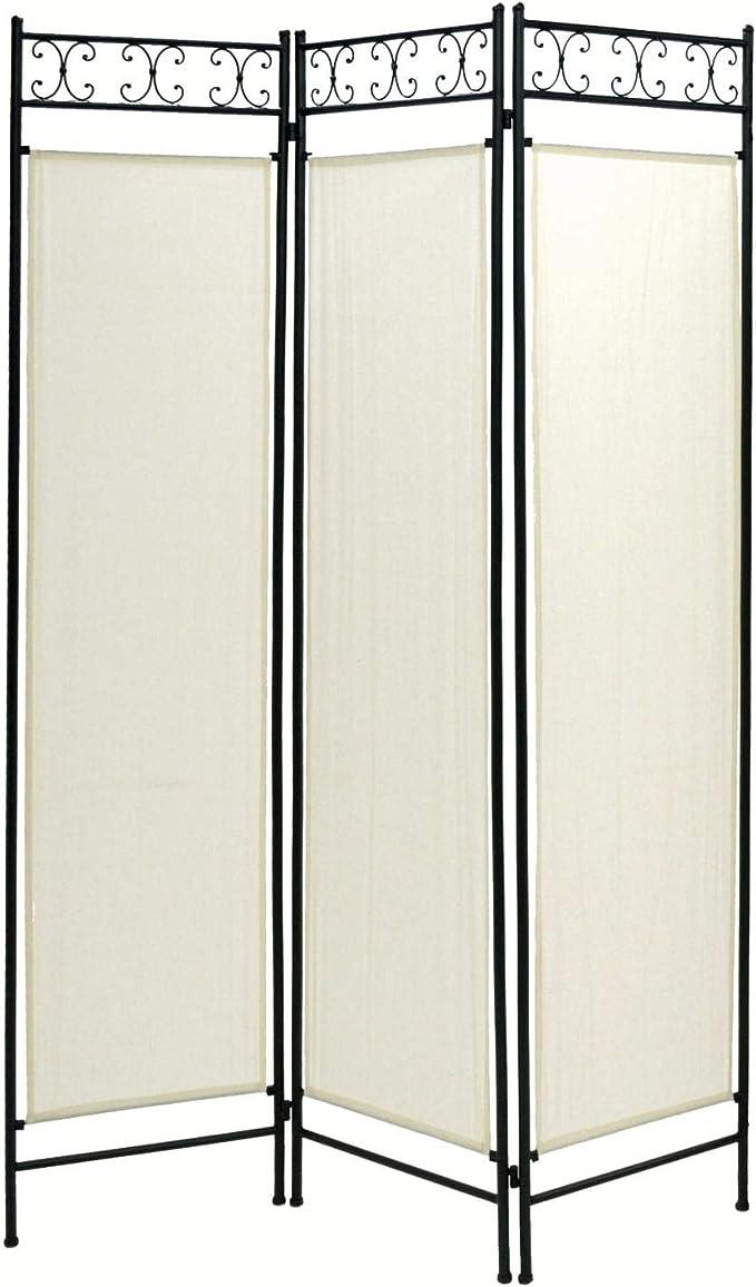 adami del día del Padre de Hierro 3 Puertas 120h180 cm Tela Negro: Amazon.es: Hogar