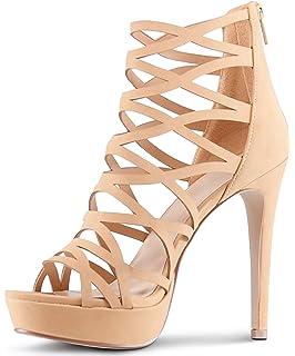 529f9febea132 Amazon.com | Herstyle Women's Lenavia Stiletto Heel, Strappy, peep ...