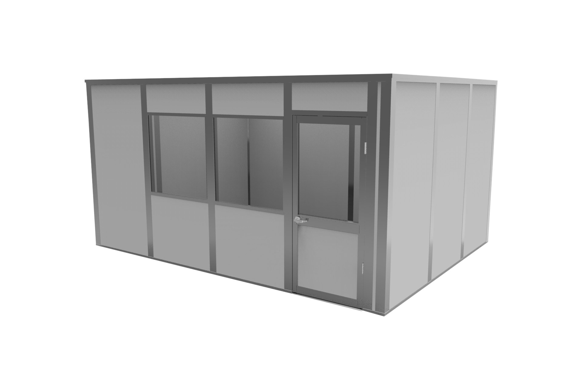 Porta-King VK3-1216AA4C Modular Office, VCDW, 16' Length x 12' Width x 8'2'' Height