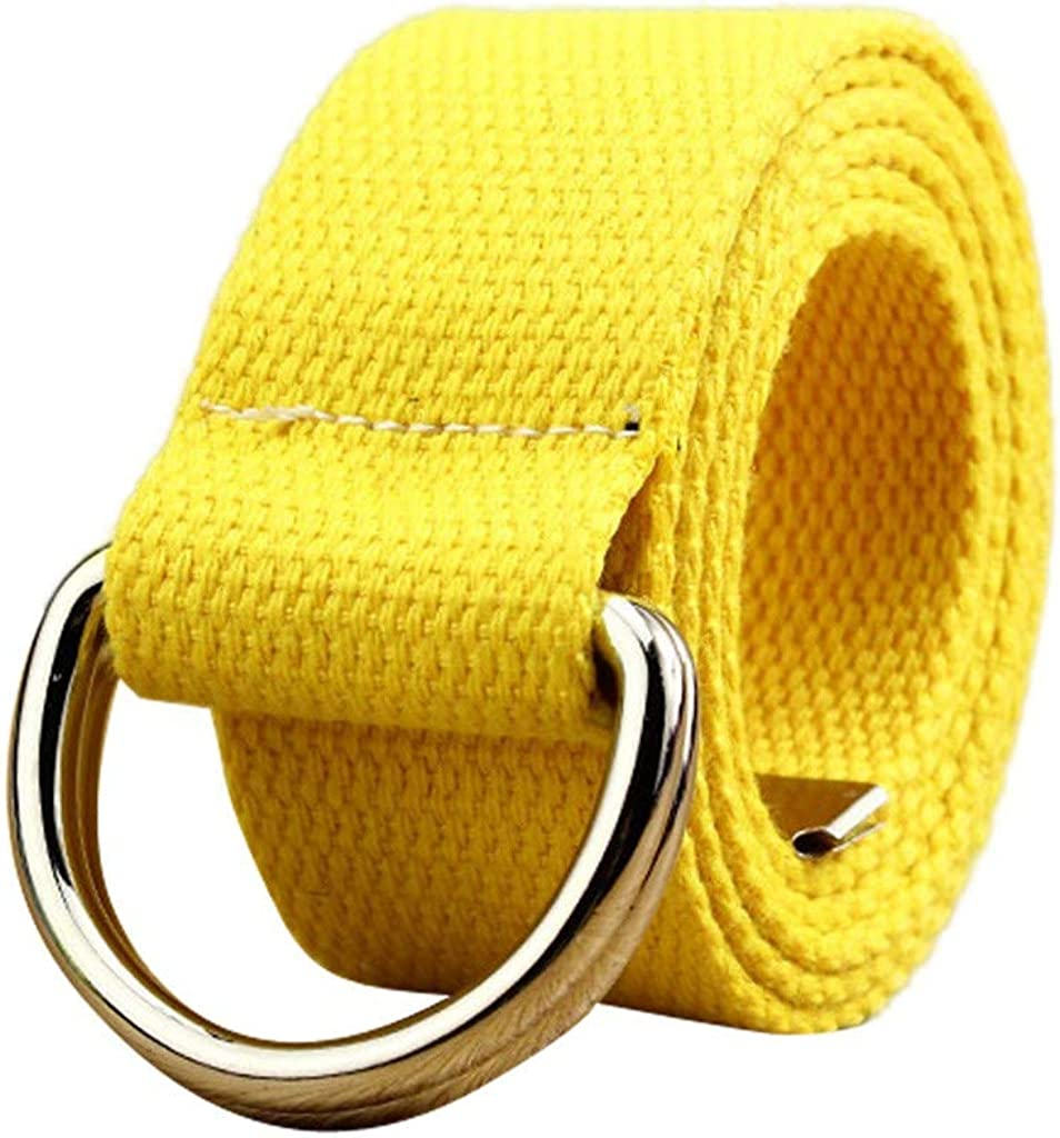 Womens Mens Elastic Braided Woven Belts Leather Canvas Stretch Belt Comfortable Double Loop Buckle Adjustable Waist Belts for Pants Trouser Jeans