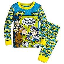 TOY STORY Boy's Size 5 Buzz, Woody and Bullseye Cotton Pajama Set