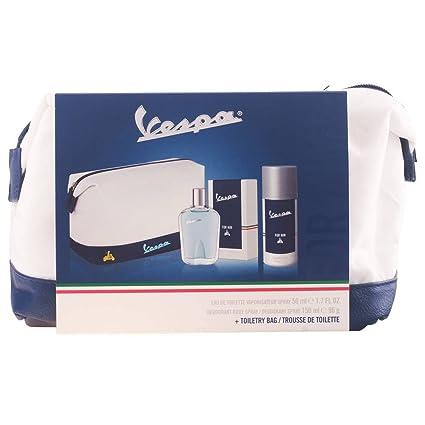 Pull & Bear Vespa For Him Set de Agua de Colonia, Desodorante y Neceser -