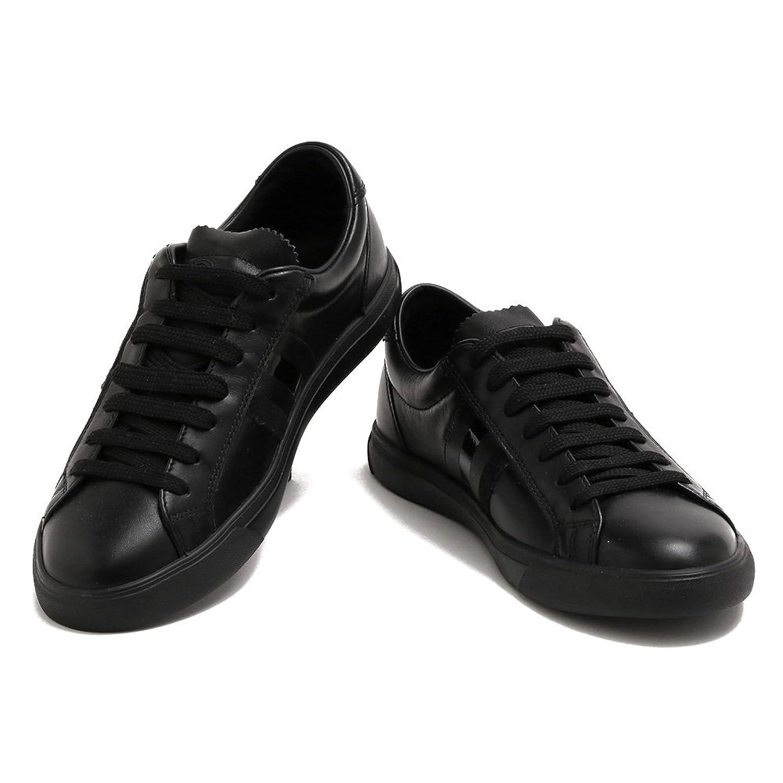 [モンクレール] MONCLER スニーカー メンズ MEN'S レザー LA MONACO モナコ 10174 00 1561 999 BLACK ブラック B07DNSH5QD