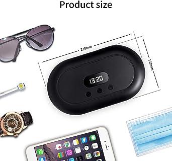 Scatola per sterilizzatore UV con display a LED carica senza fili Airpods occhiali per iPhone pennelli da trucco sterilizzatore portatile per aromaterapia orologi SBL Global