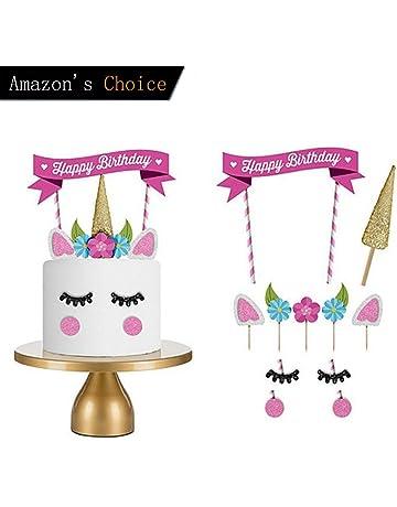 Decoraciones de Unicornio Cake Topper, Hecho a Mano Feliz Cumpleaños Pastel Decoración/Cumpleaños Cake