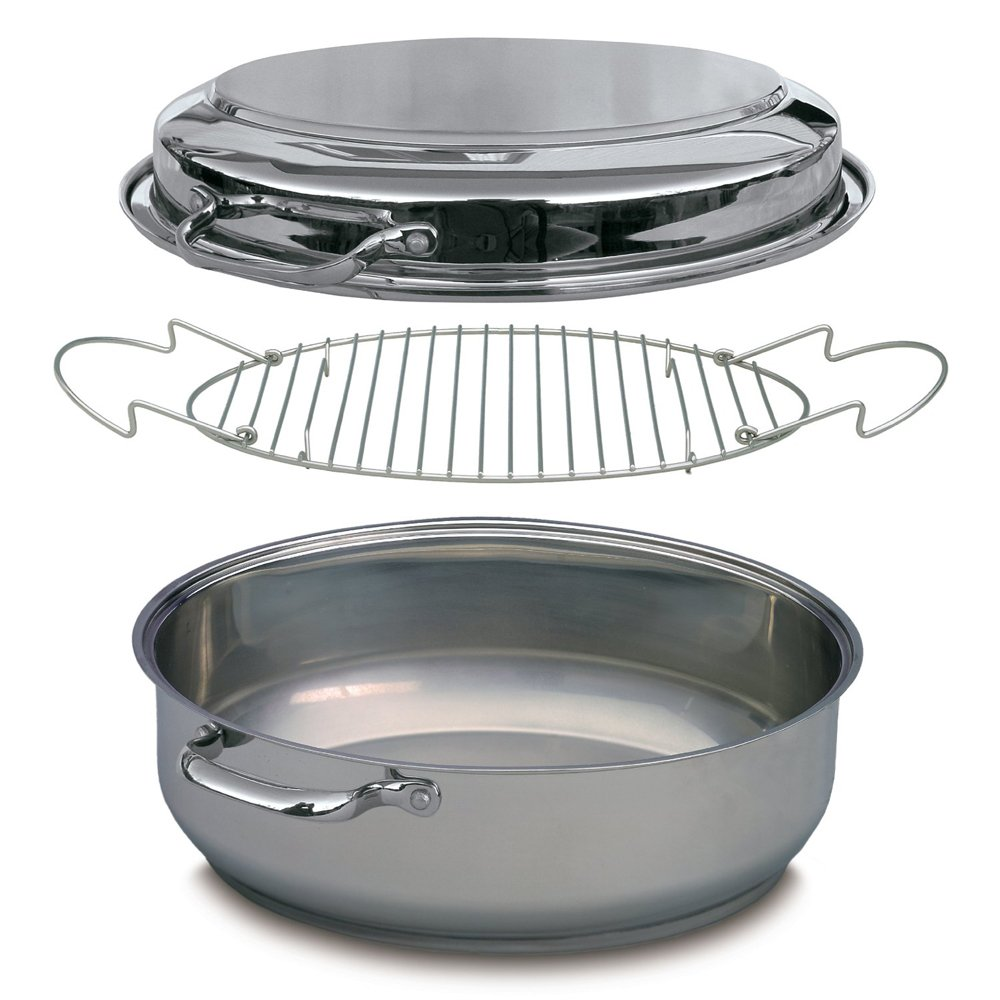 Stainless Steel Professional Grade Multi Roaster - Four Cookware Products in One, including Extra Large Roaster CM International CMRW