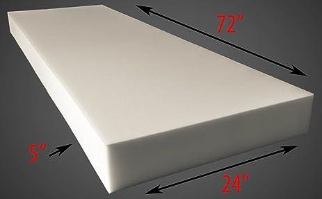 5u0026quot; X 24u0026quot; X 72u0026quot; Upholstery Foam Cushion (Seat Replacement ,  Upholstery
