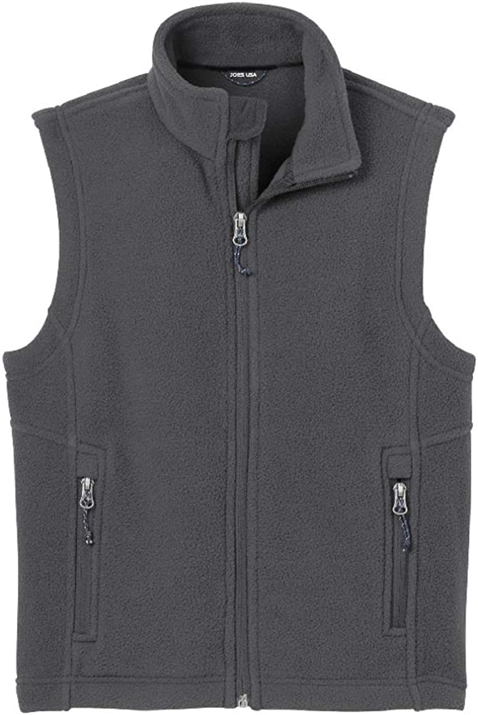 Youth Soft and Cozy Fleece Vest in Youth Sizes XS-XL