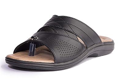 Buy Khadim's Men's Black Casual Slip-On
