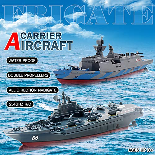 - Omnfas Remote Control Ship-2.4GHz Remote Control Challenger Aircraft Carrier RC Boat Warship Battleship
