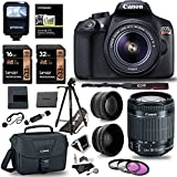 Canon EOS Rebel T6 Digital SLR Camera Kit + EF-S 18-55mm f/3.5-5.6 IS II Lens + Pro .58x & 2.2x Lenses + Lexar 48GB Memory + 57