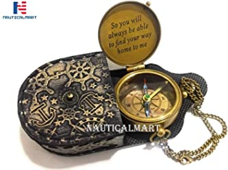 with Rosewood//Brass Anchor Case 1912  R.M.S.TITANIC Brass Pocket Compass
