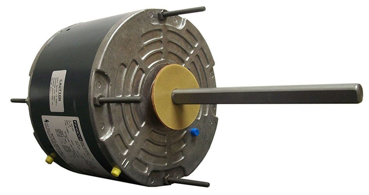 Fasco D906 5.6-Inch Condenser Fan Motor, 1/5 HP, 208-230 Volts, 1075 RPM, 1 Speed, 1.2 Amps, Totally Enclosed, Reversible Rotation, Sleeve Bearing