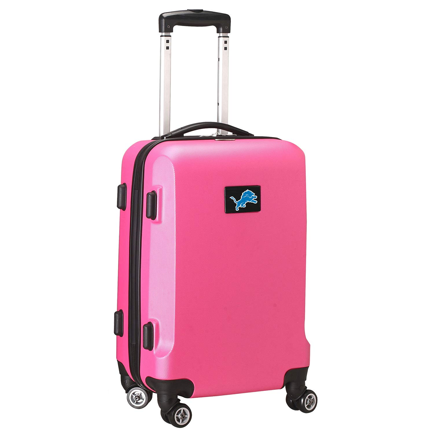 NFL Detroit Lions Carry-On Hardcase Luggage Spinner, Pink