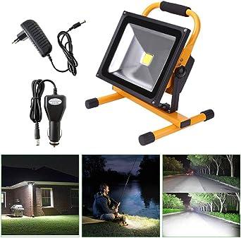 MCTECH 50W Foco Proyector LED Blanco Cálido Amarillo portátiles ...