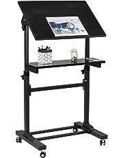 Mount-It! Mobile Stand Up Desk, Podium, Presentation Lectern Height-Adjustable Multi-Purpose Standing Workstation