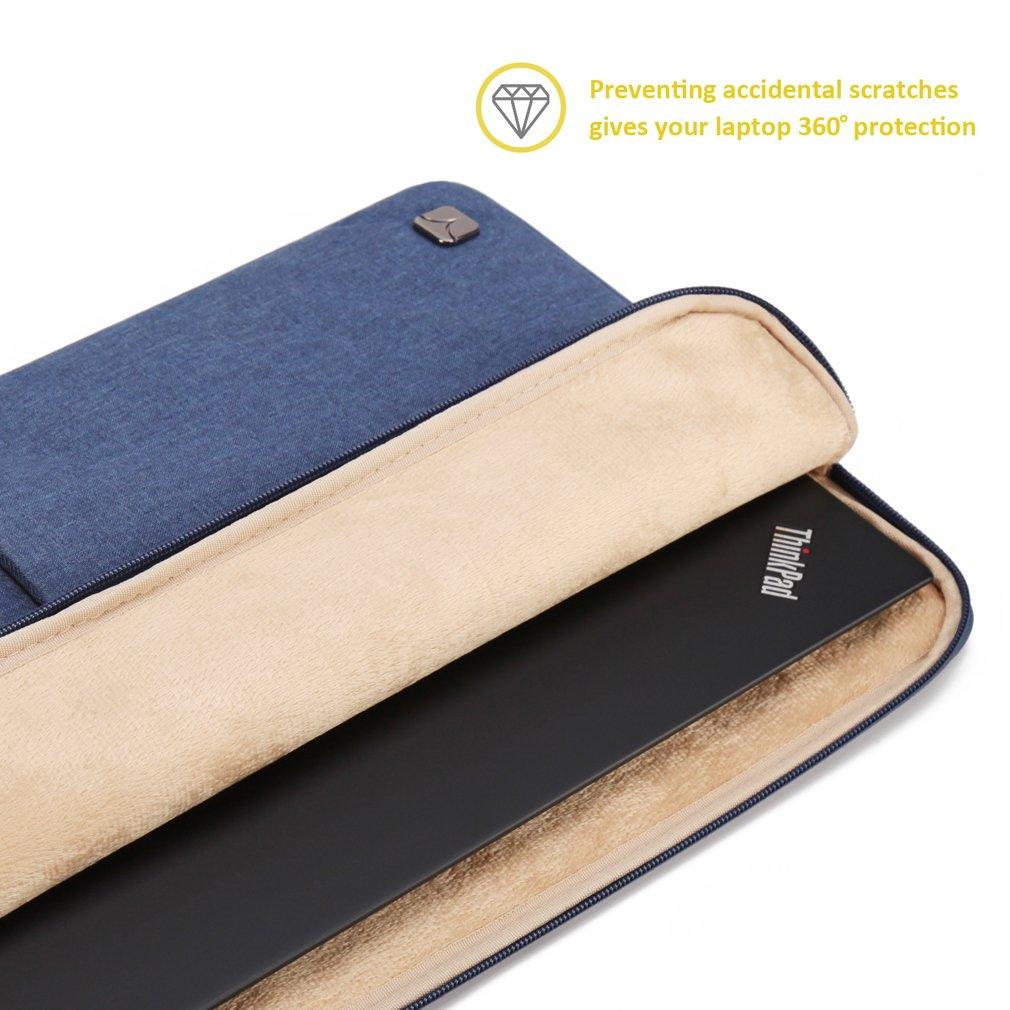 CAISON Laptop Sleeve Funda Bolsa para el Ordenador portátil Azul Azul 13 Pulgadas