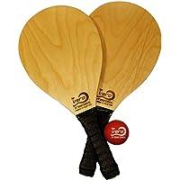 Vero Frescobol American Birch Wood Beach Frescobol Paddle Set, Official Ball, Tote-bag
