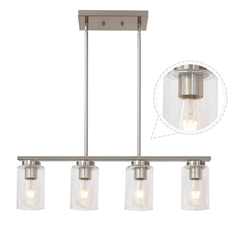 TODOLUZ 4 Light Nickel Kitchen Pendant Lighting