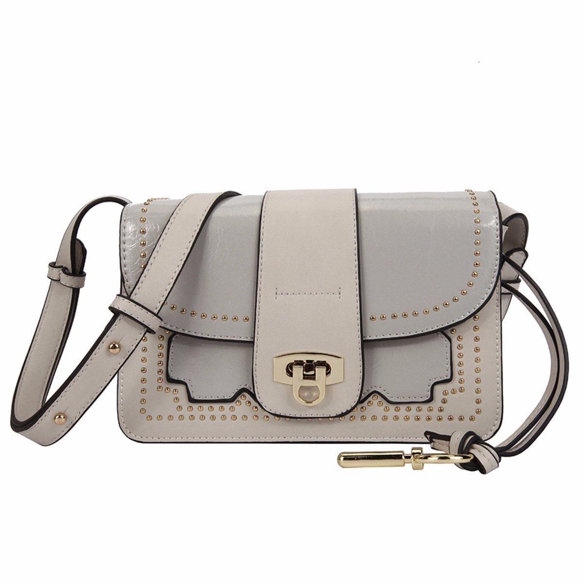 GTVERNH-der Frauen/Mode Handtasche/All-Match/Rivet persönlichkeit Paket Mode ranzen Schloss einheitlichen Schulter Platz Tasche