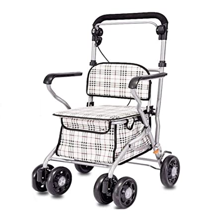 Carro de Compras Plegable, Andador de Movilidad portátil con 4 ...