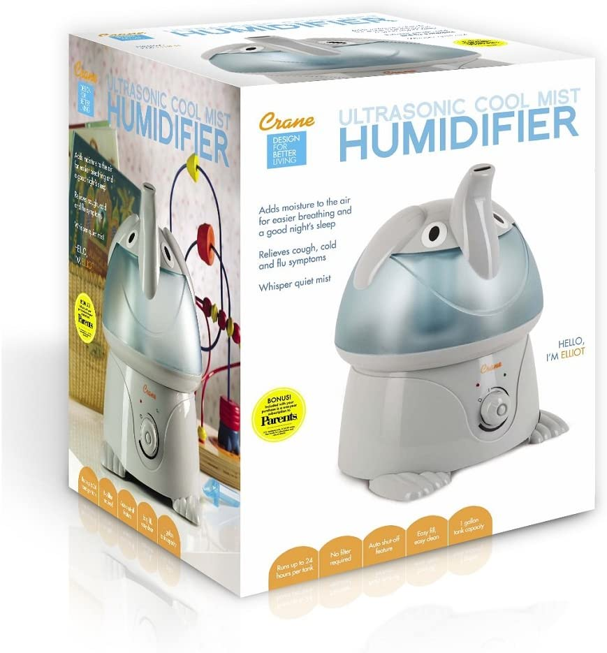 Crane Ultrasonic Cool Mist Humidifier Elephant: Amazon.co.uk