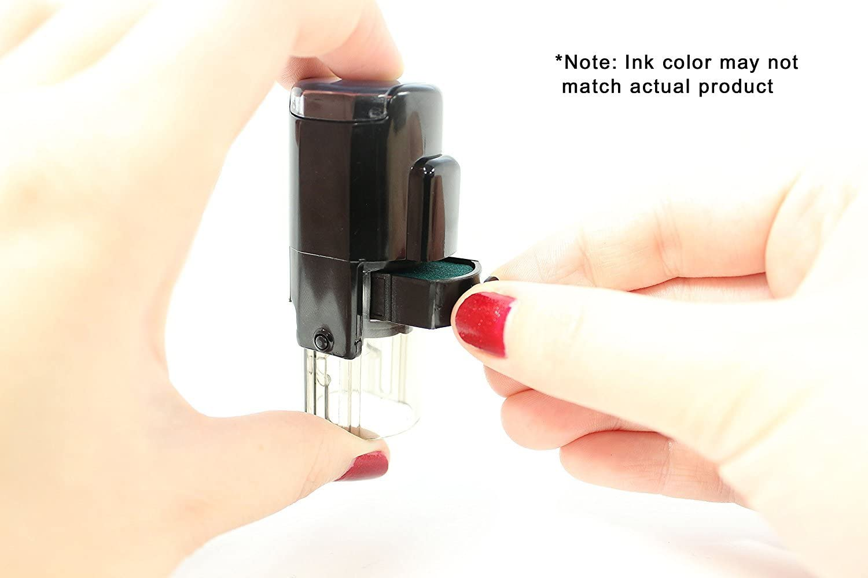 Red Ink ExcelMark Self-Inking Round Teacher Stamp Incomplete