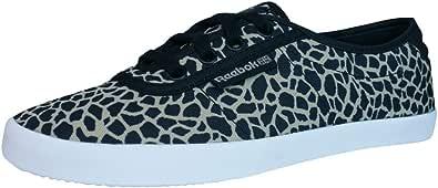 Reebok Classic NC Plimsole Womens Trainers/Shoes - Black Leopard