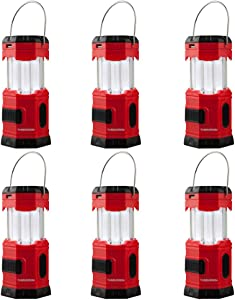 "TANSOREN 6 PACK LED Camping Lantern, Solar USB Rechargeable or 3 AA Power Supply, Built-in Power Bank Emergency LED Light with""S"""