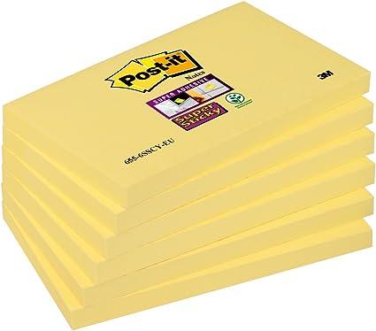 Post-It Super Sticky 6556SY - Pack de 6 blocs de notas adhesivas ...