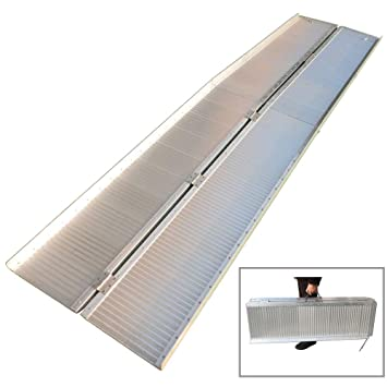 Amazon.com: Simply-Me Folding Wheelchair Ramp 10 Ft Loading ...
