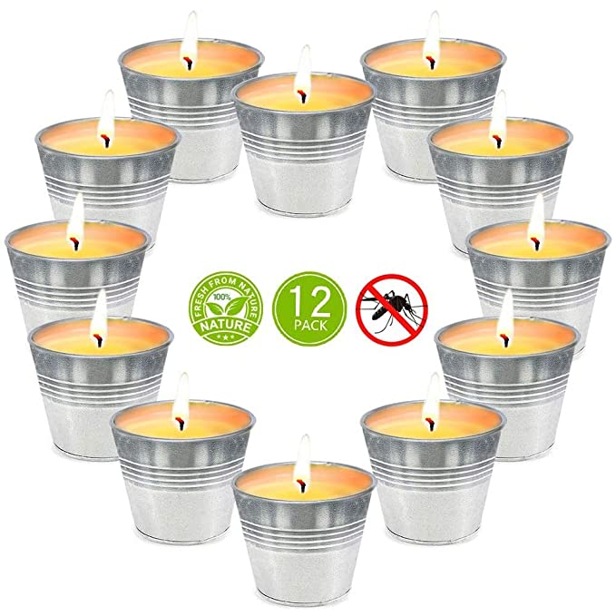 ca. 15h x 8), velas de limoncillo para exteriores para jard/ín, camping, viajes, balc/ón, terraza OFUN 8 velas de citronela velas perfumadas de soja