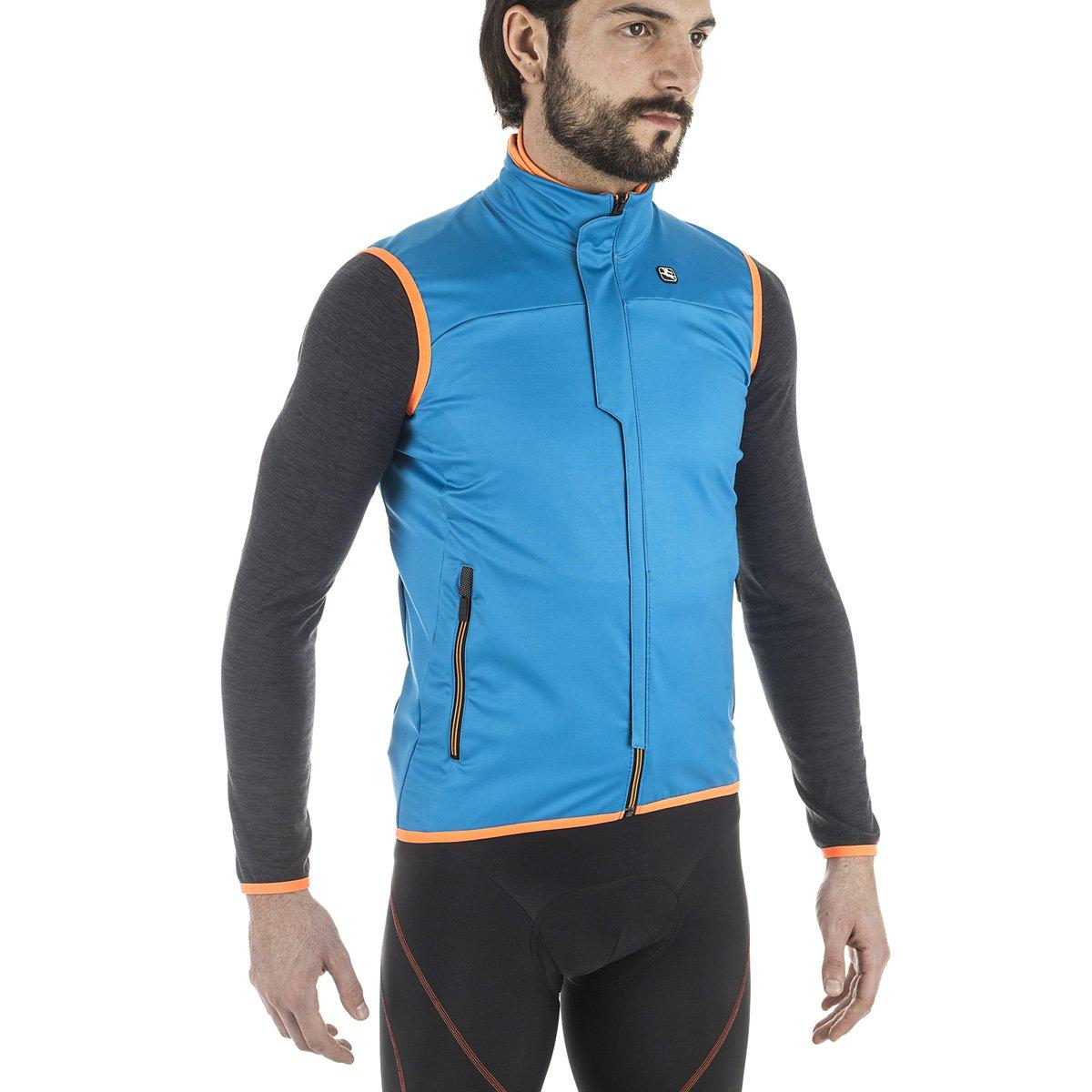 Giordana 2016 / 17メンズsostaサイクリングベスト – gicw16-vest-sost B01MA43ZVW X-Large|Aqua/Orange Aqua/Orange X-Large